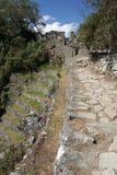 Forntida Incan stad av Machu Picchu, Peru Royaltyfri Fotografi