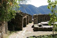 Forntida Incan stad av Machu Picchu, Peru Arkivfoto