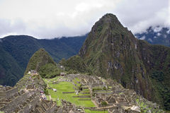 Forntida Incan stad av Machu Picchu, Peru Arkivfoton