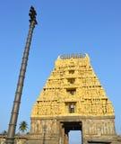 forntida indiskt tempel royaltyfri fotografi