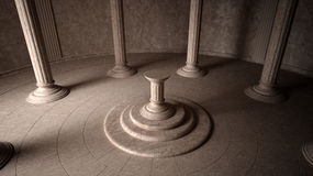 forntida interior Arkivbild