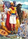 forntida israel krigare Arkivfoton