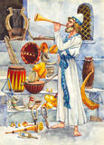 forntida israel leviticus royaltyfri illustrationer
