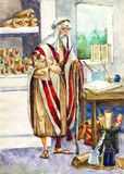 forntida israel scribe Royaltyfri Bild
