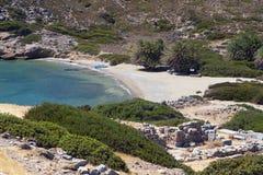 Forntida Itanos område, Crete, Grekland Fotografering för Bildbyråer