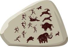 forntida jägare Arkivbild
