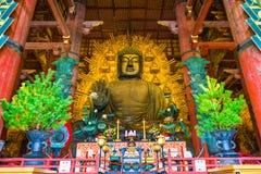 Forntida jätte- Buddha av Nara Arkivbilder