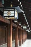 Forntida japansk lampa Arkivfoton