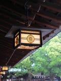 Forntida japansk lampa Arkivbild