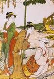 Forntida japansk traditionell klänning Royaltyfria Bilder