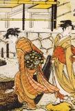 Forntida japansk traditionell klänning Royaltyfri Bild