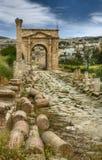 forntida jerash jordan fördärvar Arkivfoto
