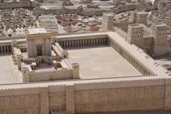 forntida jerusalem model tempel Arkivfoton