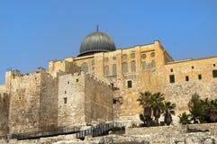 forntida jerusalem väggar Arkivbild
