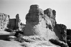 forntida jiaohegucheng city7 Arkivbilder