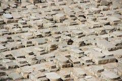 Forntida judiskt cemetry olivgrönt berg, Jerusalem, Israel Royaltyfri Fotografi
