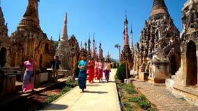 Forntida Kakku pagoder, Myanmar arkivfilmer