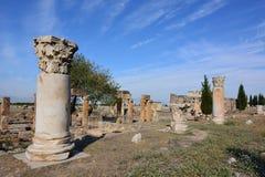 forntida kalkon för stadshierapolispamukkale Royaltyfri Fotografi
