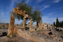 forntida kalkon för stadshierapolispamukkale Royaltyfri Foto