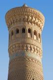 Forntida Kalyan Minaret i Bukhara Royaltyfri Bild