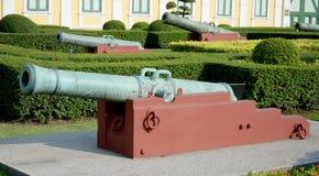 Forntida kanoner arkivfoton