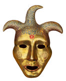 Forntida karnevalmaskering Arkivfoton