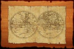 forntida kartbokvärld Royaltyfri Fotografi