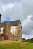Forntida Kastelholm slott (som byggs i det 14th århundradet) på kullen Fotografering för Bildbyråer