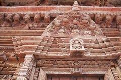 forntida kathmandu nepal träsnideri Arkivbilder