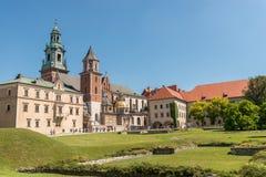 Forntida katolsk domkyrka i Polen, Krakow, Royaltyfri Foto