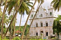 Forntida katolska kloster av Goa royaltyfria foton