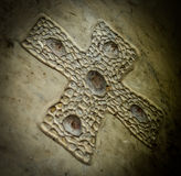 Forntida keltiskt kors Royaltyfria Bilder