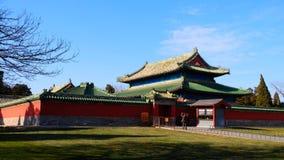 Forntida kinesisk architecture— — tempel av himmelslaktpaviljongen royaltyfri foto
