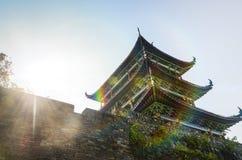 Forntida kinesisk arkitektur Royaltyfri Bild