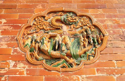 Forntida kinesisk arkitekturskulptur Royaltyfri Fotografi