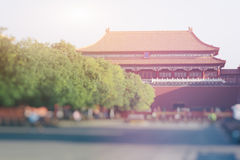 Forntida kinesisk arkitekturslott, Peking, Kina Arkivbild