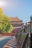 Forntida kinesisk arkitekturslott, Peking, Kina Fotografering för Bildbyråer