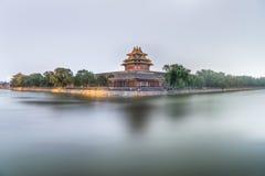 Forntida kinesisk arkitekturslott, Peking, Kina Arkivbilder
