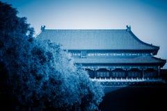 Forntida kinesisk arkitekturslott, Peking, Kina Arkivfoton