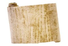 forntida kinesisk banascroll w Arkivfoto