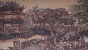 forntida kinesisk by Bild av forntida Kina Kina forntida arkitektur i bambu Forest Art Fotografering för Bildbyråer