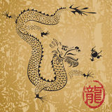 forntida kinesisk drake stock illustrationer