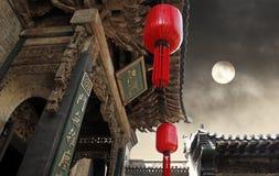 forntida kinesisk dwelling royaltyfri fotografi