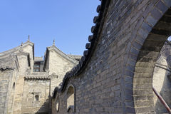 forntida kinesisk dwelling arkivfoton
