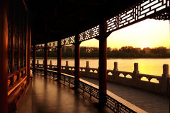 forntida kinesisk galleriträdgård Royaltyfri Fotografi