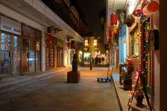 forntida kinesisk gatatown Arkivfoto
