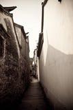 forntida kinesisk gatatown Arkivbild