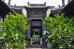 Forntida kinesisk husborggård royaltyfri bild