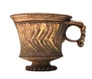 Forntida kinesisk isolerad vinkopp. Arkivbilder