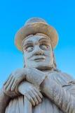 Forntida kinesisk jätte- skulptur i Bangkok, Thailand Fotografering för Bildbyråer